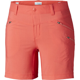 Columbia Peak to Point Pantalones cortos Mujer, red coral/coral bloom